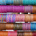 Colourful Indian Bangles Print by Tim Gainey