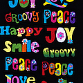 Colourful Words Print by Tim Gainey