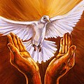 Come Holy Spirit Print by Carole Powell
