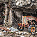 Comfortable chaos - Old tractor at Rest - Agricultural Machinary - Old Barn Poster by Gary Heller
