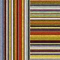 Comfortable Stripes lX Poster by Michelle Calkins