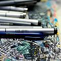 Comic Book Artists Workspace Study 1 Print by Amy Cicconi