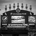 Comiskey Park U.S. Cellular Field Scoreboard in Chicago Print by Paul Velgos