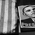 COMMERCIALIZATION OF THE PRESIDENT OF THE UNITED STATES in BALCK AND WHITE Poster by ROB HANS