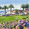 Community Center at Del Mar Print by Mary Helmreich