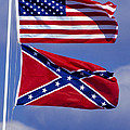 Confederate And U.S. Flags. Poster by Anonymous