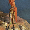 Conjuring Back the Buffalo Print by Frederick Remington
