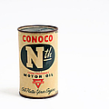 Conoco Motor Oil Piggy Bank - Antique - Tin Print by Andee Design
