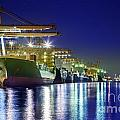 Container Cargo freight ship Poster by Anek Suwannaphoom