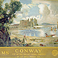 Conway Castle Print by Sir David Murray