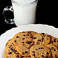 Cookies - Milk - Chocolate Chip - Baker Poster by Andee Photography