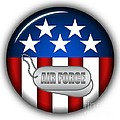Cool Air Force Insignia Print by Pamela Johnson