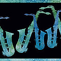 Cool Blue Saxophone String Print by Jenny Armitage