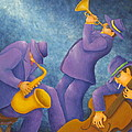 Cool Jazz Trio Poster by Pamela Allegretto