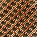 Copper Electron Micrograph Grid Print by David M. Phillips