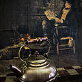 Copper Teapot Poster by Debra and Dave Vanderlaan