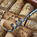 Corkscrew on corks Poster by Garry Gay