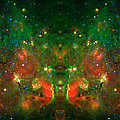 Cosmic Reflection 1 Print by The  Vault - Jennifer Rondinelli Reilly