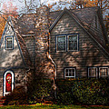 Cottage - Cranford NJ - Autumn Cottage  Print by Mike Savad