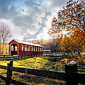 Country Covered Bridge Poster by Debra and Dave Vanderlaan
