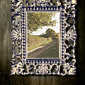 Country Lane Reflected In Mirror Print by Christopher and Amanda Elwell