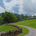 Country Road with Limestone Fence Print by Kay Pickens
