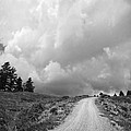 Country Road with Stormy Sky in Black and White Print by Julie Magers Soulen