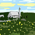 COUNTRYSIDE CHURCH Poster by Patrick J Murphy