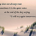 Courage Does Not Always Roar Print by Mike Flynn