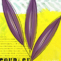 Courage Poster by Linda Woods