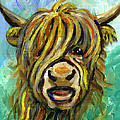 Cow Face 101 Poster by Linda Mears