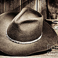 Cowboy Hat on Floor Poster by Olivier Le Queinec