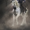 Cowgirl and Knight Print by Susan Candelario
