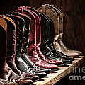 Cowgirl Boots Collection Print by Olivier Le Queinec