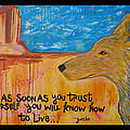 Coyote Wisdom Poster by Cat Athena Louise