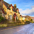 Cozy Cottage In A Scottish Village Print by Mark E Tisdale