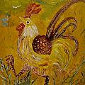 Crazy chicken Poster by Louise Burkhardt