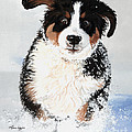 Crazy for Snow Poster by Liane Weyers