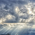 Crepuscular Rays Poster by Thomas R Fletcher