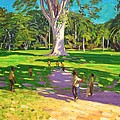 Cricket match St George Granada Print by Andrew Macara