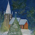 Crisp Holiday Night Print by Louise Burkhardt