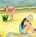 CROCHETED BEACH HATS Poster by Vicky Watkins