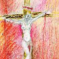 Crucified  Print by Kd Neeley