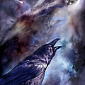 Cry Of The Raven Print by Carol Cavalaris