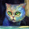Curious Kitten watercolor painting  Poster by Svetlana Novikova