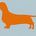 Dachshund Orange Print by Naxart Studio