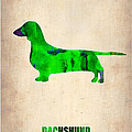 Dachshund Poster 1 Poster by Naxart Studio