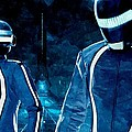 Daft Punk in Tron Legacy Poster by Florian Rodarte