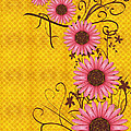 Daisies Design - s01y Print by Variance Collections