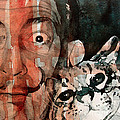 Dali and his cat Poster by Paul Lovering
